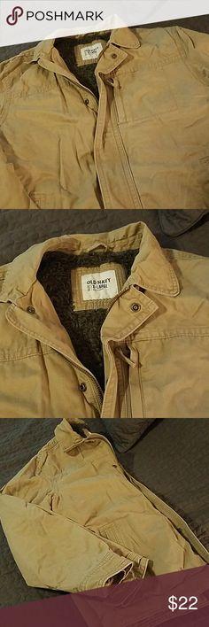 Men's Khaki Jacket Warm, heavy jacket -- great used quality Old Navy Jackets & Coats