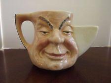 Vintage Shaving Mug Scuttle Bowl LANCASTER & SANDLAND LTD TWO FACE MUG character  Neat scuttle
