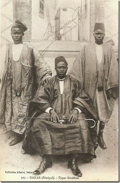 """Dakar (Senegal). Senufo types"" circa 1900-10. Photographer/publisher Albaret."