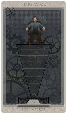 Tarot card: The Emperor by Sabina Nore - If you love Tarot, visit me at www.WhiteRabbitTarot.com.