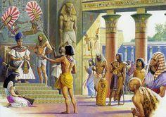 Joseph explains Pharao's dreams