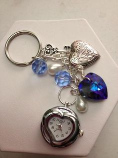 'Hand Made Heart Pocket Watch Key Chain' is going up for auction at  2pm Thu, Mar 21 with a starting bid of $8.