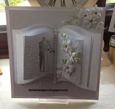 Hi Dahlings Hope you all are enjoying your week end and rembered to put your Clocks back ,I needed that extra hour lol . Wedding Day Cards, Wedding Shower Cards, Wedding Cards Handmade, Wedding Anniversary Cards, Easel Cards, 3d Cards, Love Cards, Card Book, Up Book