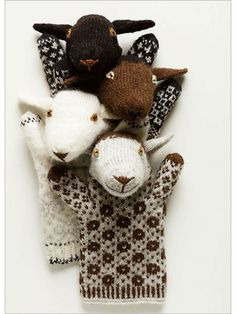 darling knitted puppets -- Estonian Sheep Puppets - Interweave