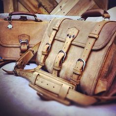 The tobacco line-up. | Saddleback Leather Co. | 100 Year Warranty