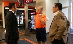 Mark Sanchez arrives at Broncos HQ