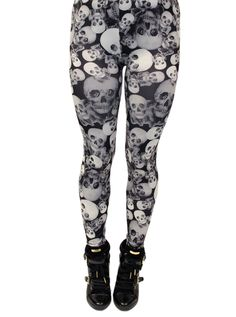"""Skull Collage"" Leggings"