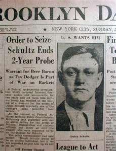 1933 newspaper & photo Gangster DUTCH SCHULTZ indicted | eBay