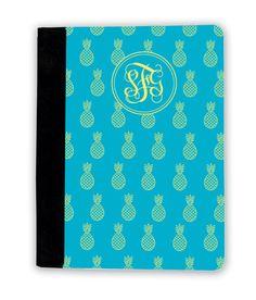 Blue Lemon Pineapple Prep iPad Cover