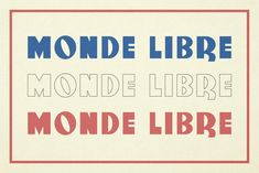 Monde Libre by Elyas Beria on @creativemarket Fancy Fonts, Cool Fonts, New Fonts, Typography Fonts, Typography Design, Lettering, Art Deco Design, My Design, Graphic Design