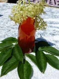 Holunderblüten-Essig mit Apfel & Orange