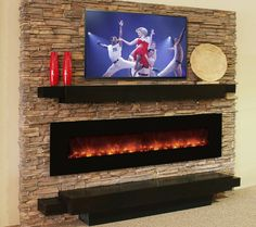 Contemporary Fireplaces Fireplace Tv