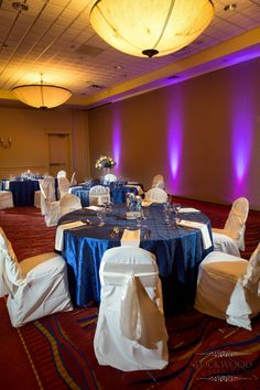 Royal Blue wedding, Grand Ballroom.  Tampa Westshore Marriott.  Florida Wedding