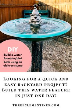 Diy water fountain,