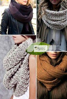 Se acerca la temporada de frío y las bufandas, te compartimos algunas ideas para usarlas.