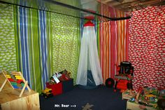 basement fabric panels for walls, I hate all the insane colors/patterns, but like the general idea!