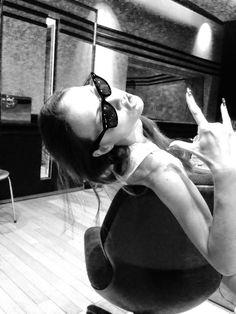 Anna Tsuchiya recording LUCIFER