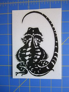 Bearded Dragon Decal/Sticker 4X6 by AmysStickerStore on Etsy, $5.49