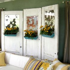 DIY room dividers love the flowers and the idea that it is a recyclable (and therefore potentially cheap) option!