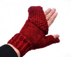 free flip top knitted mitten pattern