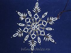 Beaded Snowflake TUTORIAL http://www.ecrafty.com/casearch.aspx?SearchTerm=snowflake