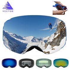 Daily Offers $26.49, Buy VECTOR New Brand Ski Goggles Double UV400 Anti-fog Big Ski Mask Glasses Skiing Professional Men Women Snow Snowboard Goggles