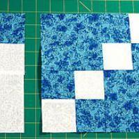"Free Quilt Block Patterns, Names A Through E: 8"" Double Four-Patch Quilt Blocks"