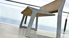 Bench, steel, wood, design, Bird | Tribù