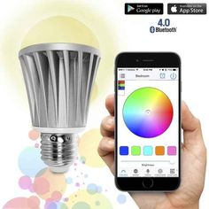 Smartphone controlled light bulbs so you don't even have to reach out of bed to turn your light on and off.