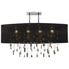 "Lifestyles 33"" Wide Oval Large Black Pendant Chandelier - #N7284 | LampsPlus.com"