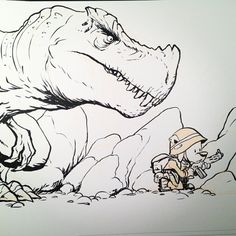 """INKtober Day 13! #inktober PFC """"Boots"""" McCallister meets a new enemy on the battlefield."""