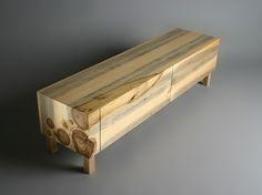 Beautiful wood log inlay - RYNTOVT DESIGN