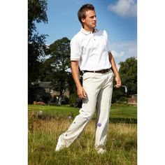Stromberg Ecru Classic Fit Golf Trousers - High quality, stylish trousers available now from Stromberg Golf - https://www.foremostgolf.com/stromberg-ecru-classic-fit-golf-trousers