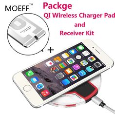 5 v universele qi draadloze oplader telefoon opladen pad draadloze oplader ontvanger kit coil ultra dunne usb voor iphone 5 s 5c 6 plus