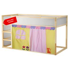 Cute Bed Playhouse / Bed tent / Loft bed curtain - free design and colors customization Bunk Bed Playhouse, Bunk Bed Tent, Bunk Beds, Loft Bed Curtains, Kids Curtains, Kids Bed Tent, Ikea Kura Bed, Pottery Barn Teen Bedding, Cute Bedding