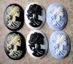 Cameo Lolita Day Of The Dead Goddess... oh here are more in different colors how beautiful....