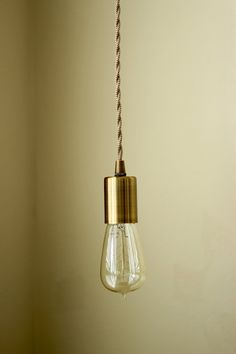 Antique Brass Industrial Plug In Pendant Light Bare Bulb Socket Brass Edison Bulb Canopy Rayon Cloth Covered Black Brown Wire White