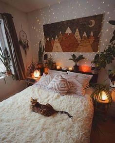 75 Modern Bohemian Bedroom Decor Ideas - Home Decor Design Room Ideas Bedroom, Bedroom Layouts, Bedroom Designs, Bed Room, Bedroom Wall, Neon Bedroom, Child's Room, Diy Bedroom, Master Bedroom