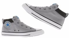 Converse MEN'S CHUCK TAYLOR  Street Basic Canvas MID DOLPHIN SOAR WHITE 155742F #converse #155429C