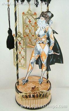 Harlequin Girl artwork by Laura Carson.