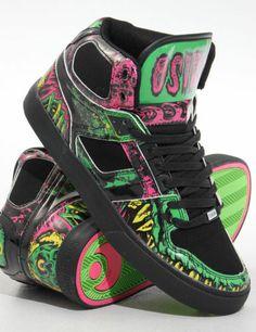 Osiris Shoes NYC 83 VLC High top - Black/Green/Mishka