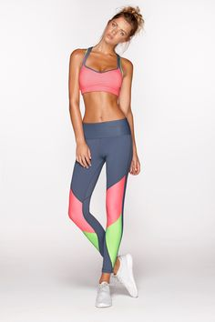 Tropical workout bra | limited edition & Tornado F/L tight Usa only shop now: http://www.lornajane.com/011617/Tornado-F-L-Tight #lornajane #activewear