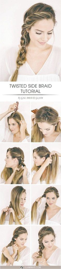 These 11 Easy Quick Braids Will Save You SO MUCH TIME! There are half up styles, pony tails, and more! If you liked this pin, click now for more details. # types of Braids easy # Braids easy side # Braids easy side Step By Step Hairstyles, Hairstyles With Bangs, Straight Hairstyles, Girl Hairstyles, Braided Hairstyles, Wedding Hairstyles, School Hairstyles, Vintage Hairstyles, Quick Braids