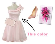 """""""Aph PDH:prom"""" by brileeg3 on Polyvore featuring Chicwish, Christian Louboutin and Coccinelle"""