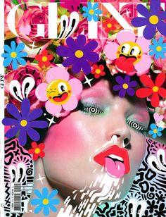 Glint Magazine Photo Collage Design, Photo Collage Template, Model Poses Photography, Editorial Photography, Doodle On Photo, Id Magazine, Birthday Nails, Creative Makeup, Fashion Books