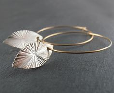 Very excited to have my Drop Leaf Hoop Earrings open for voting at Shopbevel, please vote, thank you!