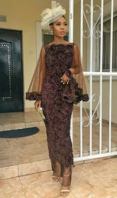 ThriveNaija's first edition of owambe outfit ideas showcasing 14 ankara, aso-ebi style ideas to cop for your next owambe party. African Wear Dresses, African Fashion Ankara, Latest African Fashion Dresses, African Print Fashion, Nigerian Outfits, Nigerian Dress, Lace Gown Styles, Ankara Gown Styles, African Wedding Attire