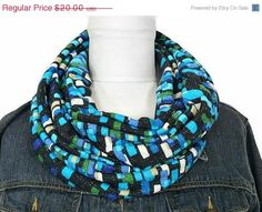 Christmas in July Sale Turquoise Infinity by ModaBellaScarves