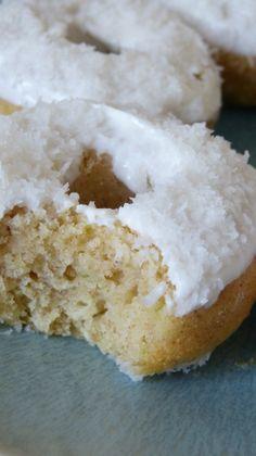 Doughnuts (au four) noix de coco citron vert