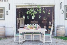 vintage pastel bride/groom table set up. #LauraAnnMillerPhotography #weddingdetails